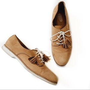 Coach Nubuck Zinnia Suede Brown Tassel Loafers
